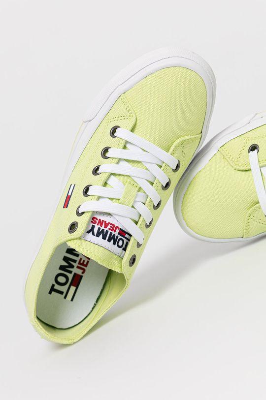 zielony Tommy Jeans - Tenisówki