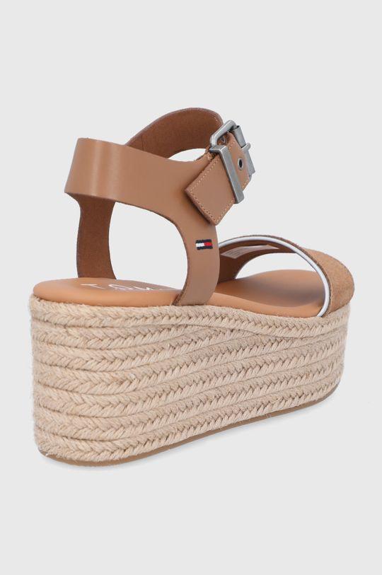 Tommy Jeans - Sandale de piele  Gamba: Piele naturala Interiorul: Material sintetic Talpa: Material sintetic