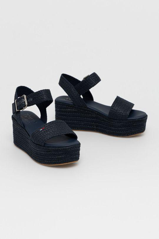 Tommy Jeans - Sandále tmavomodrá
