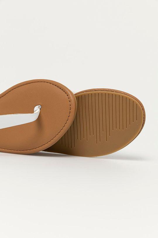 bílá Tommy Jeans - Kožené sandály