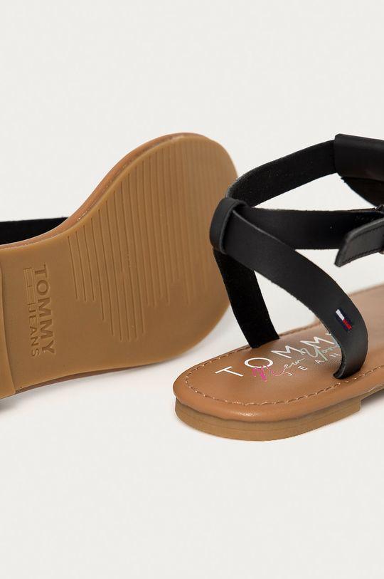 Tommy Jeans - Kožené sandále  Zvršok: Prírodná koža Vnútro: Textil, Prírodná koža Podrážka: Syntetická látka