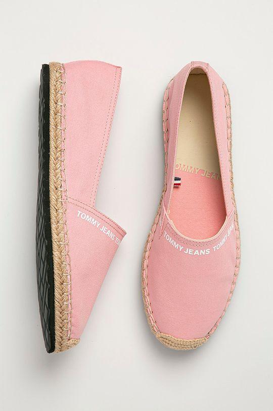 różowy Tommy Jeans - Espadryle