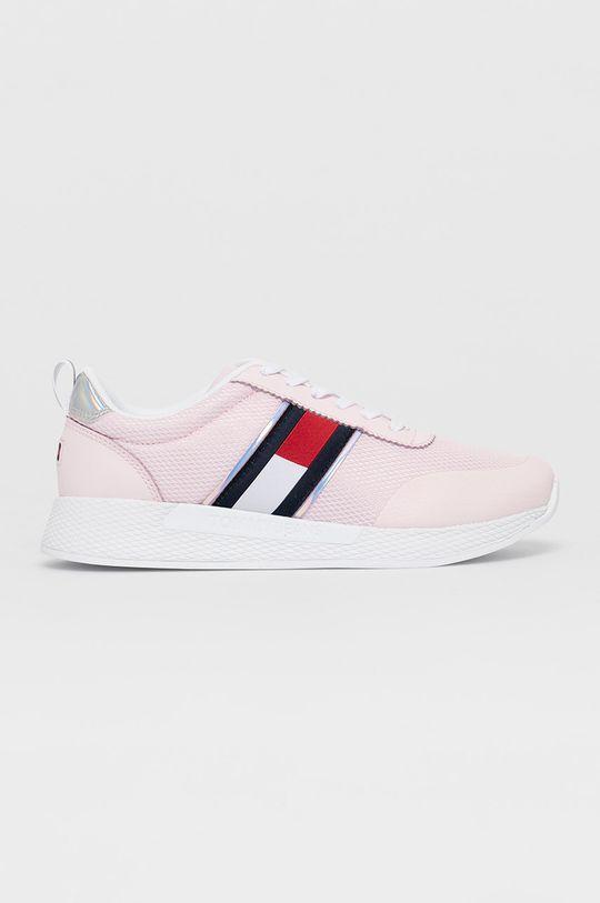 pastelová ružová Tommy Jeans - Topánky Dámsky