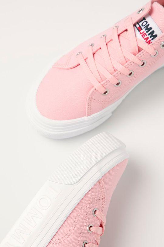 růžová Tommy Jeans - Tenisky