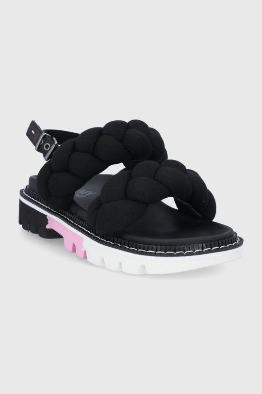 Tommy Jeans - Sandały czarny