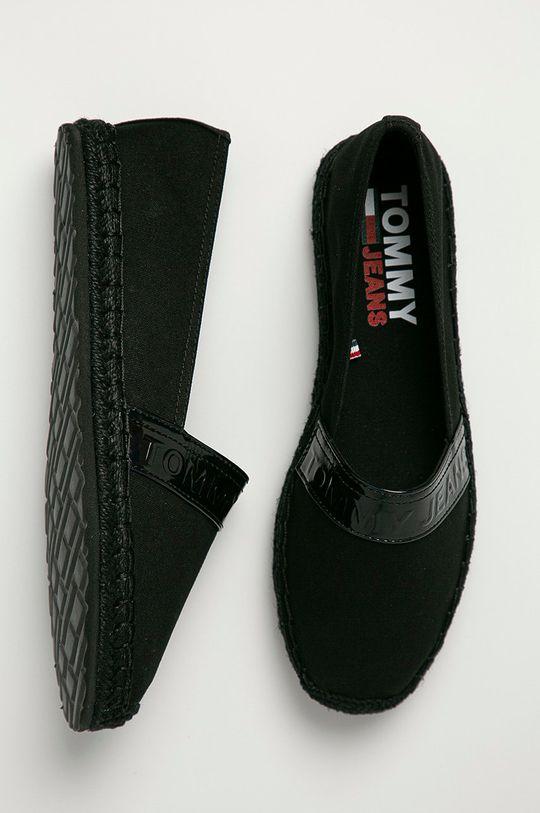 čierna Tommy Jeans - Espadrilky