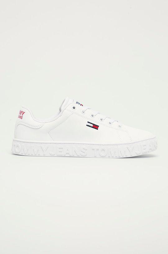 biały Tommy Jeans - Buty skórzane EN0EN01363 Damski