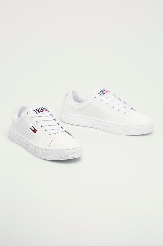 Tommy Jeans - Buty skórzane EN0EN01363 biały