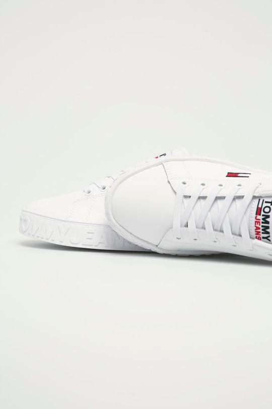 biały Tommy Jeans - Buty skórzane EN0EN01363