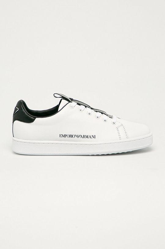 bílá Emporio Armani - Kožené boty Dámský