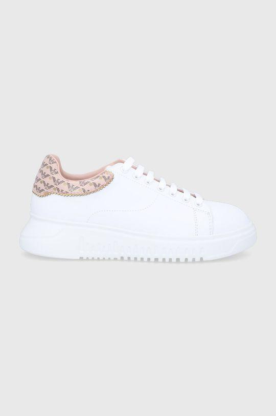 biela Emporio Armani - Kožená obuv Dámsky