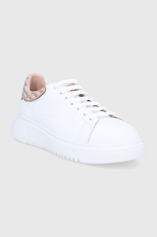 Emporio Armani - Kožená obuv biela