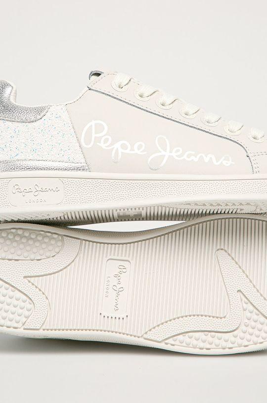 bílá Pepe Jeans - Kožené boty Brompton Fun