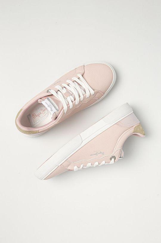 pastelově růžová Pepe Jeans - Boty Kenton Supra
