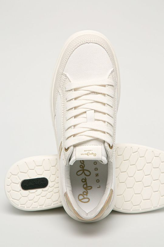 biela Pepe Jeans - Topánky Abbey Shade