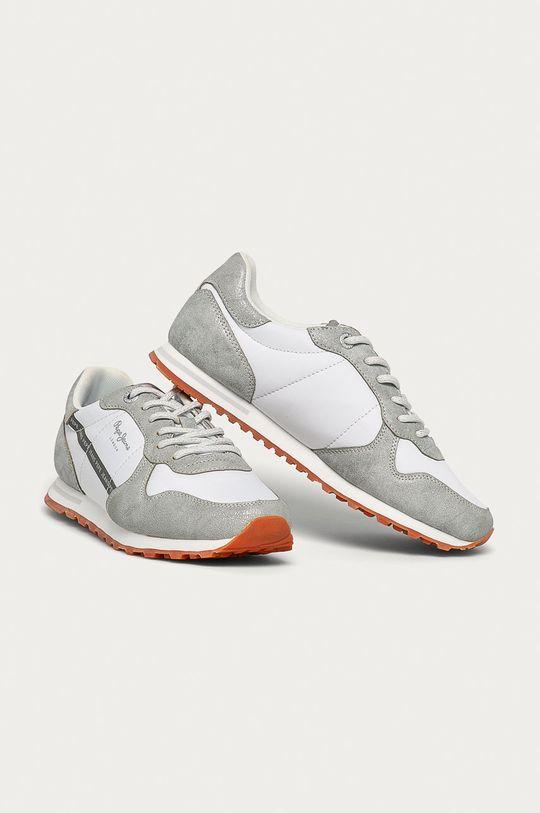 Pepe Jeans - Pantofi Verona W Lurex argintiu