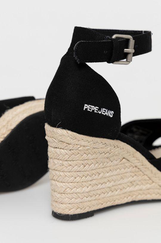 Pepe Jeans - Sandały Maida Cholewka: Materiał tekstylny, Wnętrze: Materiał syntetyczny, Materiał tekstylny, Podeszwa: Materiał syntetyczny