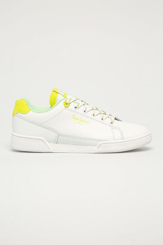 žlutě zelená Pepe Jeans - Kožené boty Lambert Dámský