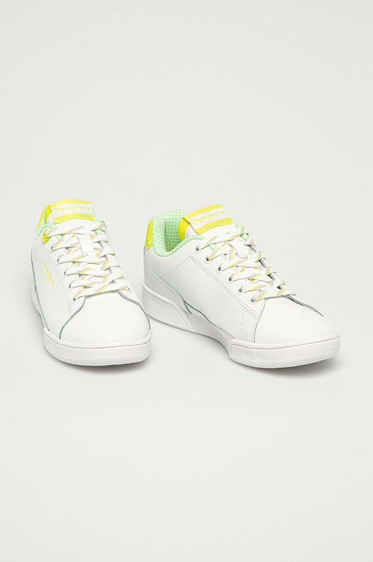 Pepe Jeans - Kožené boty Lambert žlutě zelená