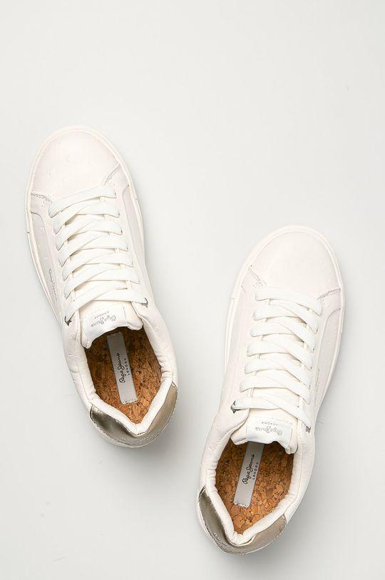 biela Pepe Jeans - Topánky Adams Molly
