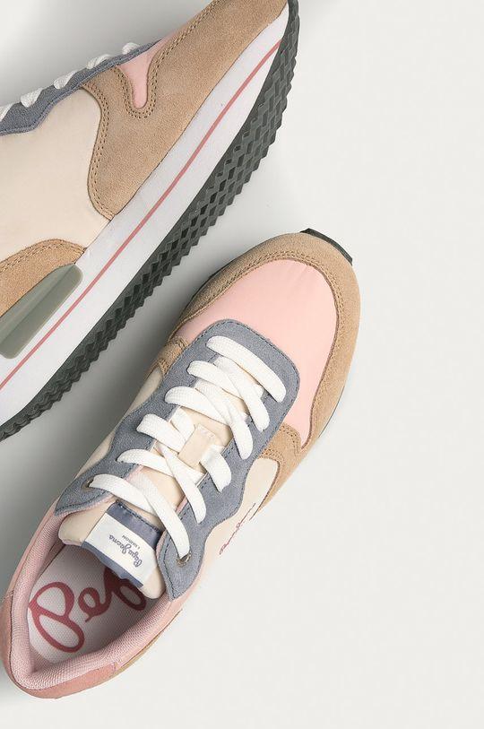 pastelová ružová Pepe Jeans - Topánky Rusper Young21