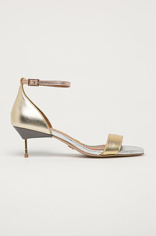 zlatá Kurt Geiger London - Kožené sandály Birchin Dámský