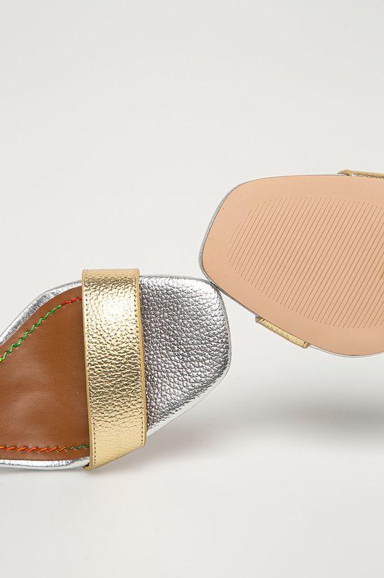 zlatá Kurt Geiger London - Kožené sandály Birchin