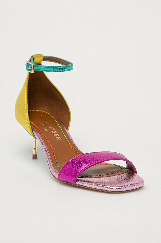 Kurt Geiger London - Kožené sandály Birchin vícebarevná