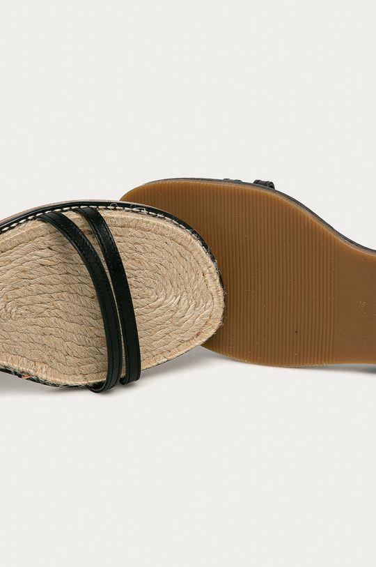czarny Kurt Geiger London - Sandały skórzane Olympus