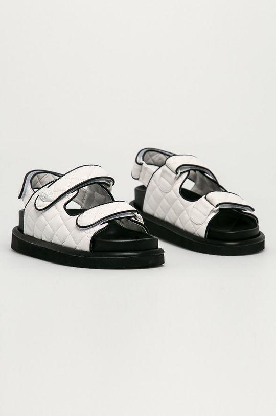 Kurt Geiger London - Kožené sandály Orson bílá