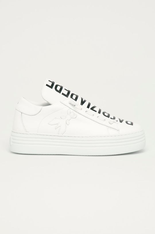 biela Patrizia Pepe - Kožená obuv Dámsky
