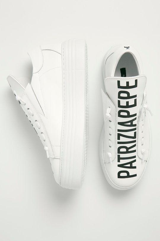 biela Patrizia Pepe - Kožená obuv