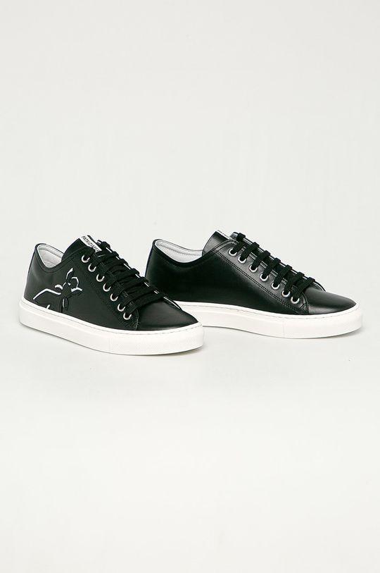 Patrizia Pepe - Kožené boty černá