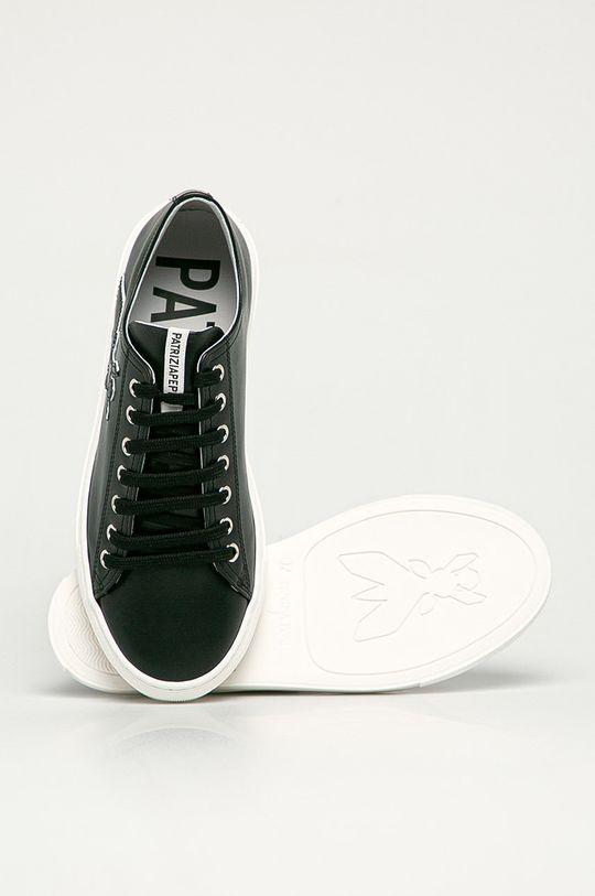 černá Patrizia Pepe - Kožené boty