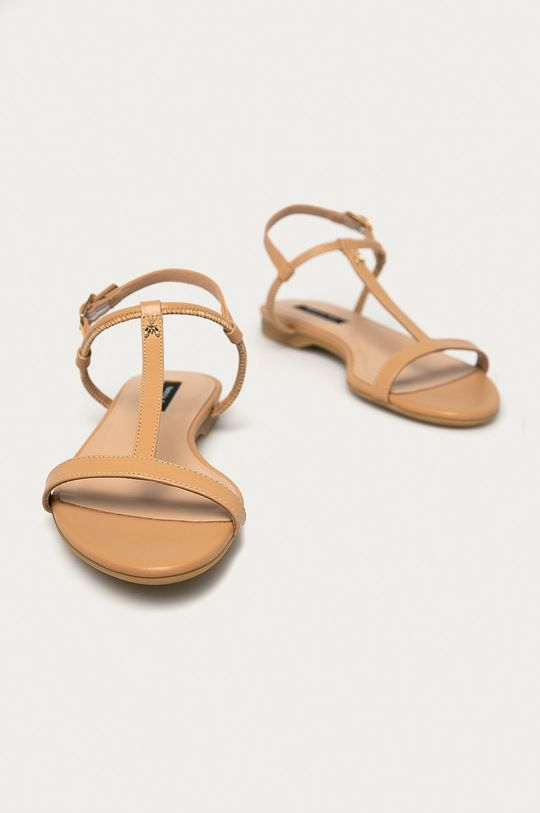 Patrizia Pepe - Kožené sandále béžová