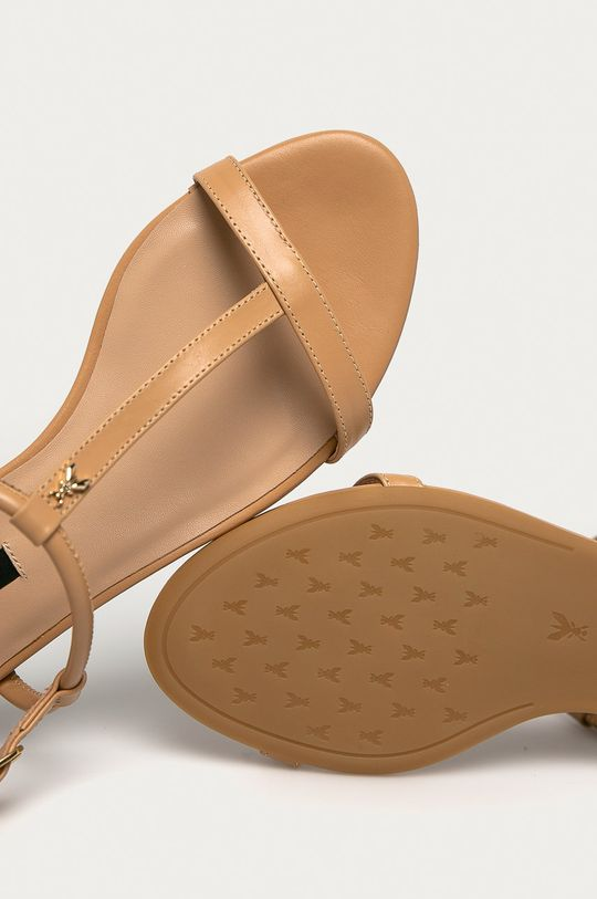 béžová Patrizia Pepe - Kožené sandále