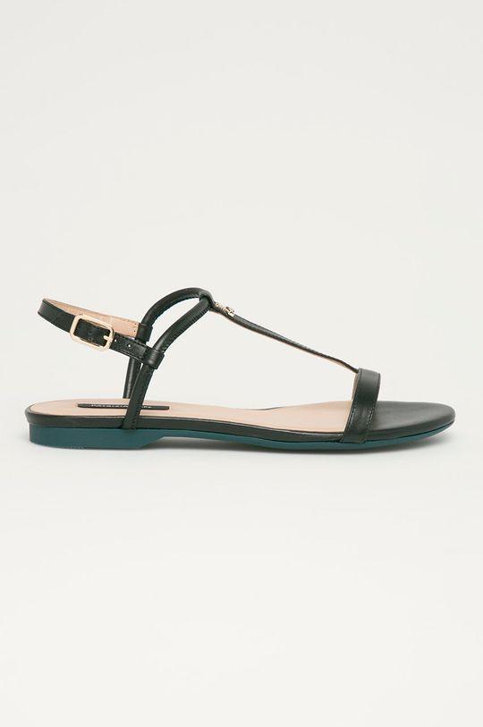 černá Patrizia Pepe - Kožené sandály Dámský