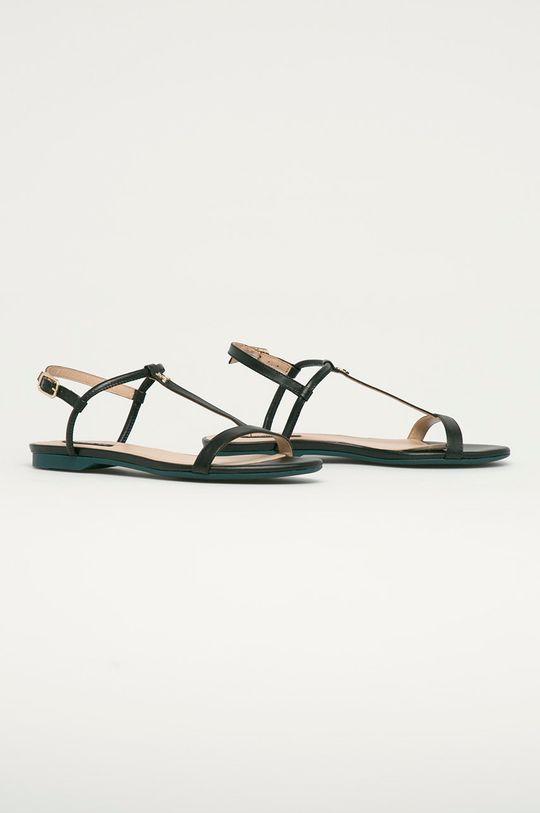 Patrizia Pepe - Kožené sandály černá