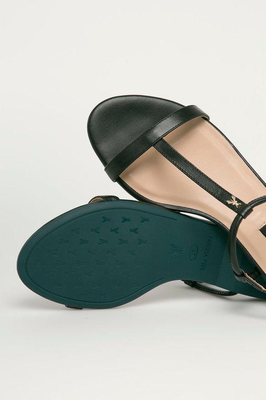 černá Patrizia Pepe - Kožené sandály