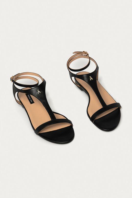 Patrizia Pepe - Kožené sandále čierna