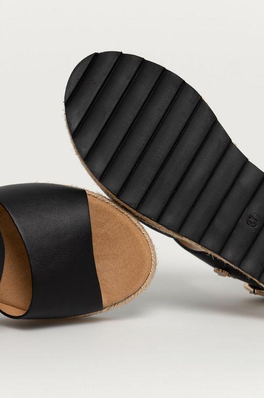 czarny U.S. Polo Assn. - Sandały