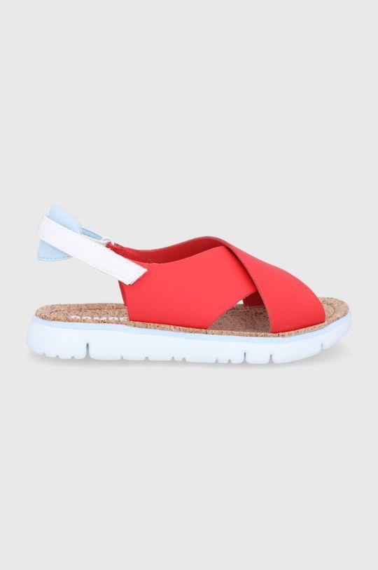 czerwony Camper - Sandały skórzane Oruga Damski