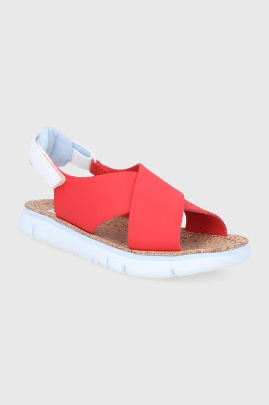 Camper - Sandały skórzane Oruga czerwony