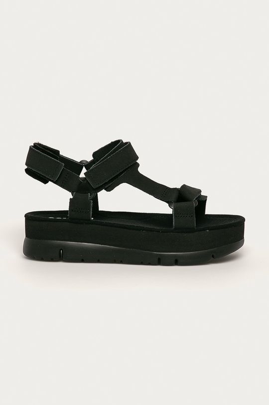 negru Camper - Sandale de piele Oruga Up De femei