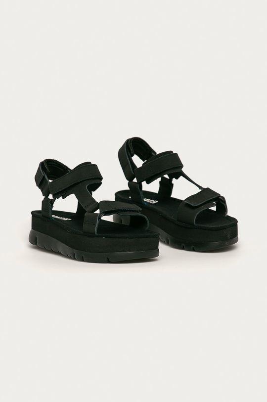 Camper - Sandale de piele Oruga Up negru