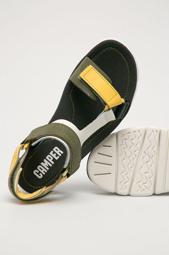 olivová Camper - Kožené sandály Oruga