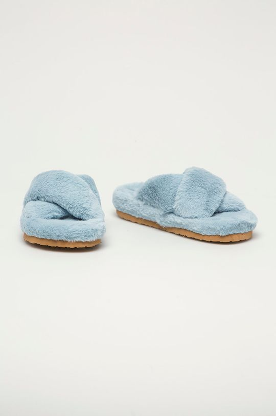 Steve Madden - Papuci de casa Fuzed albastru deschis
