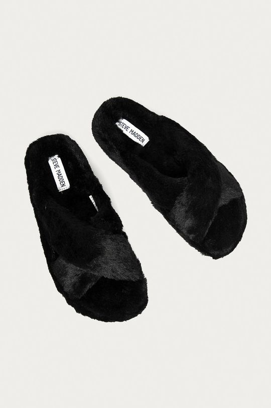 Steve Madden - Papuče Fuzed čierna