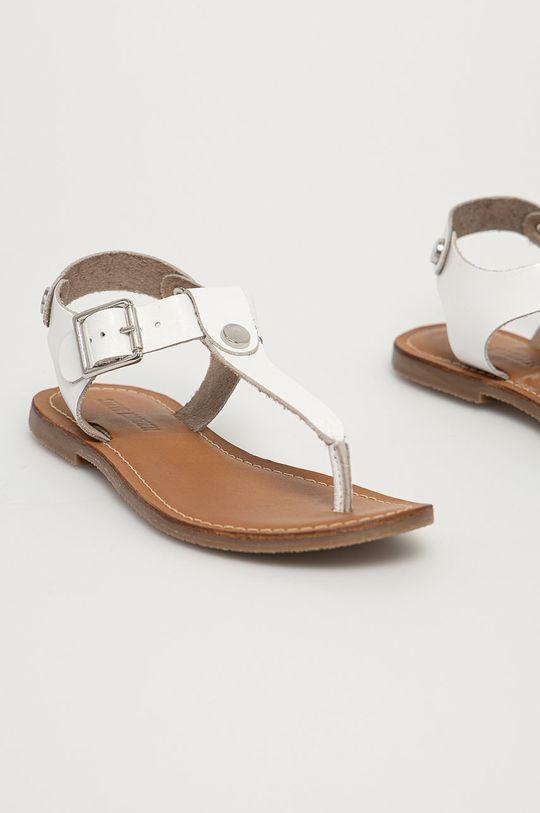 Steve Madden - Kožené sandále Tally biela
