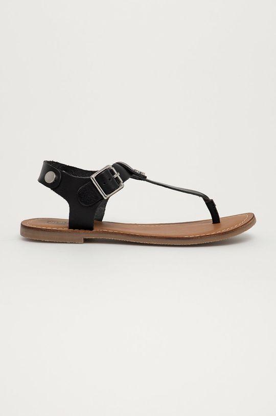 čierna Steve Madden - Kožené sandále Tally Dámsky